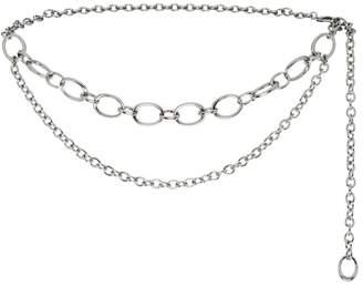 St. John Metal Chain Link Double Strand Belt