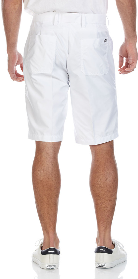 J. Lindeberg True Micro-Twill Shorts, White