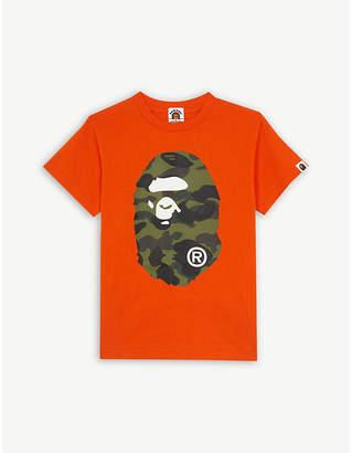 A Bathing Ape 1st Camo ape logo cotton T-shirt 4-8 years