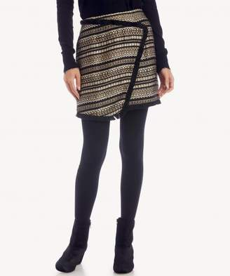 Sole Society Metallic Tweed Skirt