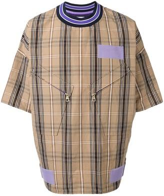 A(Lefrude)E oversized plaid T-shirt