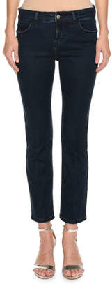 Piazza Sempione Five-Pocket Cropped Jeans, Navy