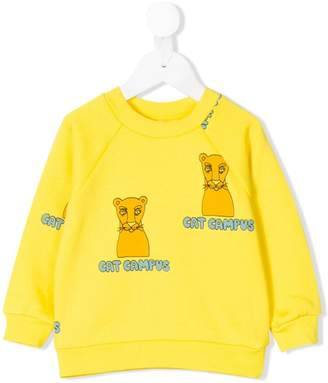 Mini Rodini Cat Campus print sweatshirt