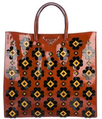Spazzolato Flowers Shopping Tote