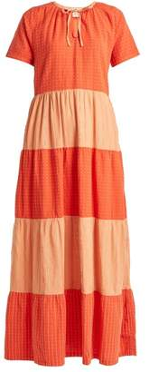 Ace&Jig Daze Tiered Cotton Maxi Dress - Womens - Orange