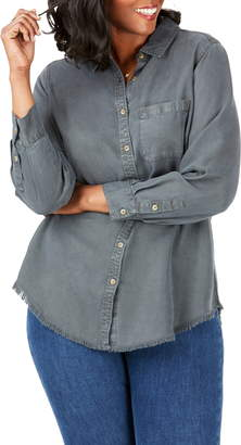Foxcroft Haven Garment Dyed Tencel® Lyocell Shirt
