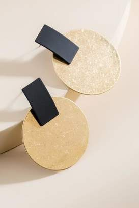 francesca's Cia Mod Statement Earrings - Gold