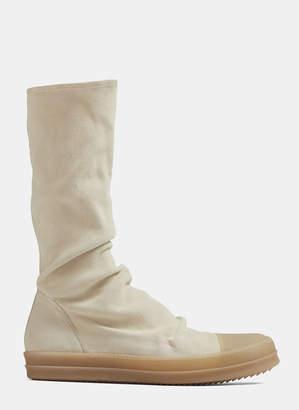 Rick Owens Sock Sneaker Boots in Beige