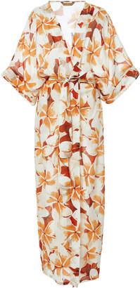 Agua de Coco Jasmin Floral Long Tunic