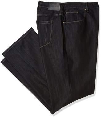 Perry Ellis Men's Big and Tall Black Five Pocket Denim