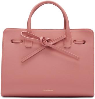 Mansur Gavriel Pink Leather Mini Sun Tote $1,095 thestylecure.com
