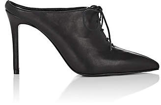 Barneys New York Women's Leather Lace-Up Mules - Black