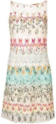 Missoni patterned crochet dress