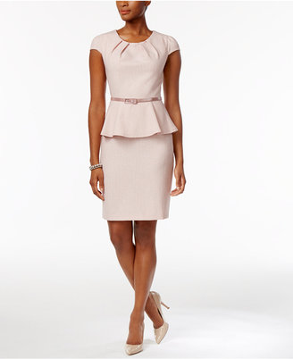 Connected Belted Peplum Sheath Dress $69 thestylecure.com