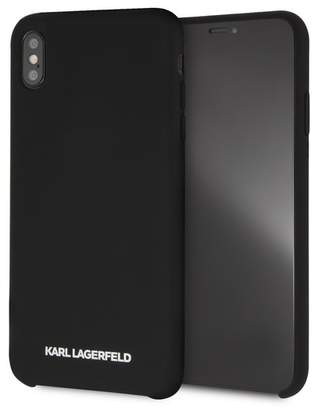 Karl Lagerfeld Black Silicone Soft Touch iPhone XS Max Case