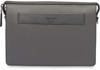 Prada embossed logo strap shoulder bag