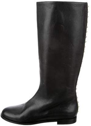 Alexander McQueen Stud-Accented Leather Boots
