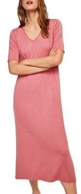 MANGO Lori-A V-Neck Midi Dress