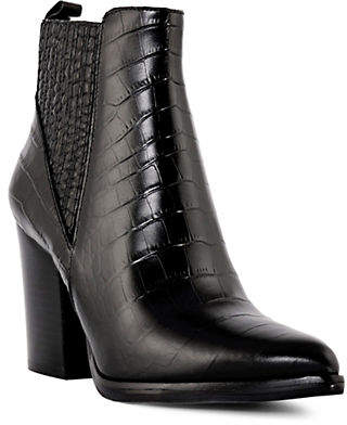Marc Fisher Crocodile Leather Booties