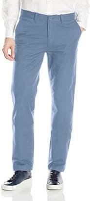 Nautica Men's Flat Front Slim Fit Twill Chino Marina Stretch Pant