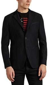 John Varvatos MEN'S STRIPED COTTON-WOOL THREE-BUTTON SPORTCOAT