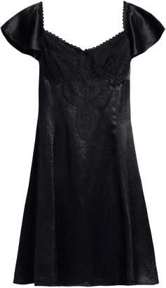 McQ Corded Lace-paneled Satin Mini Dress