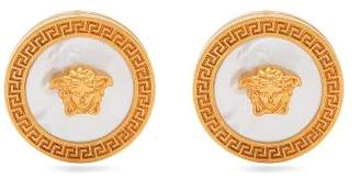 Versace Tribute Mother Of Pearl Earrings - Womens - Pearl