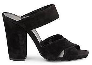 Saint Laurent Women's Oak Suede Mule Sandals
