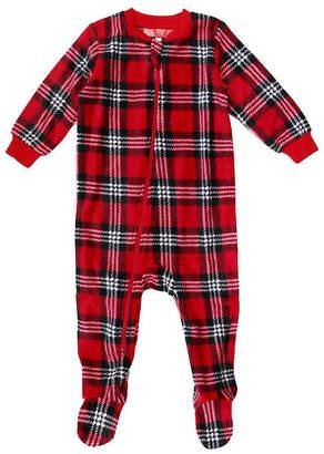 HOLIDAY #FAMJAMS Holiday #Famjams Santa Plaid 1 Piece Footed Pajama -Baby Unisex