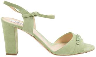 Moschino Green Suede Sandals