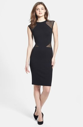 French Connection 'Viven' Mesh Inset Body-Con Dress $148 thestylecure.com