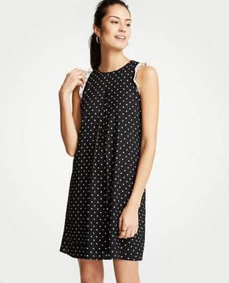 Ann Taylor Polka Dot Ruffle Shift Dress