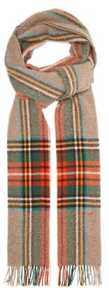 Gucci Checked Wool Scarf - Mens - Multi