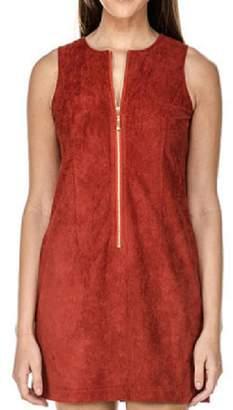 Jade Zip Suede Dress