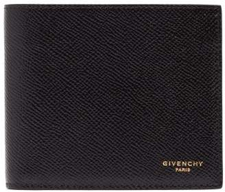 Givenchy Grained Leather Bi Fold Wallet - Mens - Black