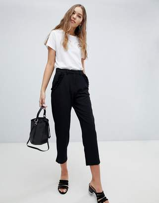 Brave Soul Lexie Tailored Trousers with Frill Pockets