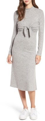 Women's Everly Tie Front Knit Dress $49 thestylecure.com