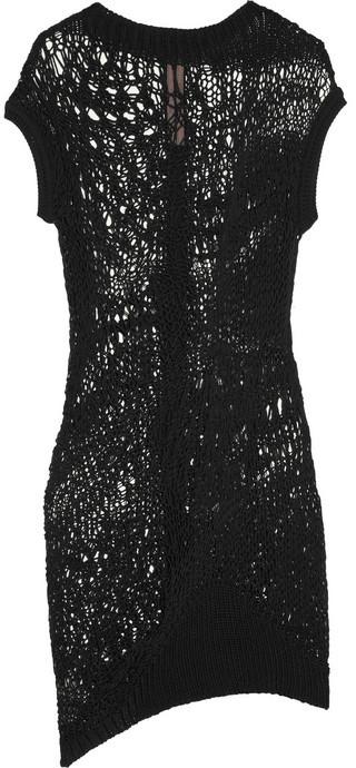 Rick Owens Psyco open-knit cotton tunic