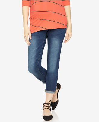 Luxe Essentials Maternity Dark Wash Skinny Jeans $85 thestylecure.com