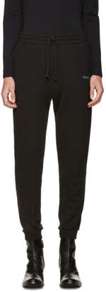 Vetements Black Embroidered Logo Lounge Pants