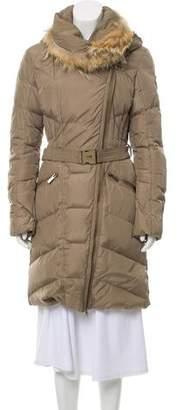 ADD Fur-Trimmed Down Coat