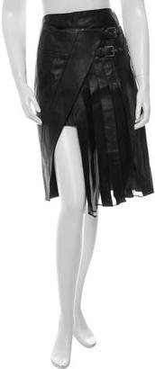 Belstaff Pleated Leather Skirt $265 thestylecure.com