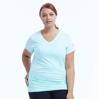 Plus Size Marika Curves Elizabeth Shirred Workout Tee