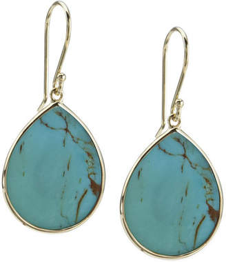 Ippolita 18k Small Teardrop Slice Earrings in Turquoise