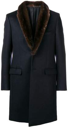 Fendi fur collar coat
