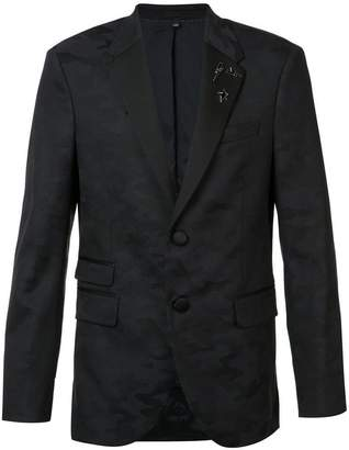 Neil Barrett camouflage trim suit jacket