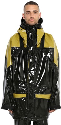 Maison Margiela Hooded Shiny Coated Jersey Jacket