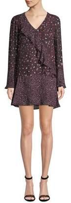 Parker Kimberly Printed Ruffle Combo Mini Dress