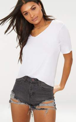 PrettyLittleThing Grey Extreme Rip Denim Shorts