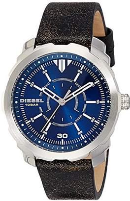 Diesel Men's DZ1787 Machinus Stainless Steel Leather Watch